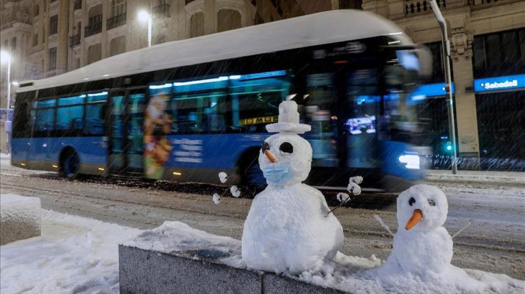 La nevada más intensa en la Comunidad de Madrid desde 1971.